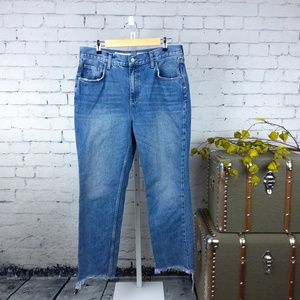 Pilcro and the Letterpress Tilde high rise jeans